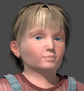 3d young boy model