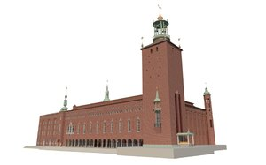 stockholm city hall 3d model