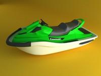 3d model kawasaki jetski