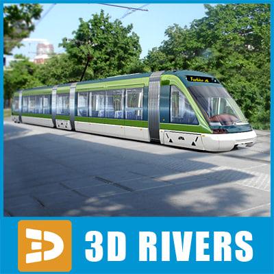 milan tramway tram train 3d model