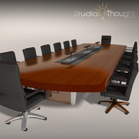 Conference Room Table/ Chairs - Architectural interior