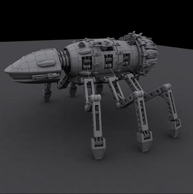 maya mechanical spider robot