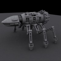 maya mechanical spider robot