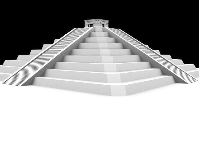 free aztec pyramid 3d model