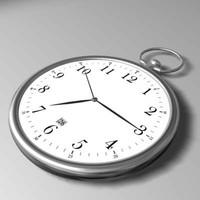 pocket watch 3d max