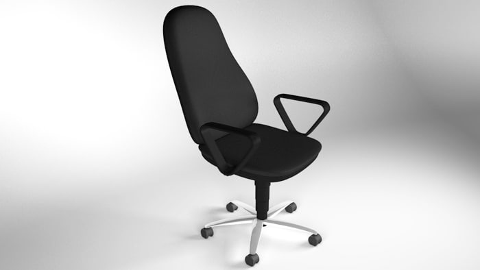 3d deskchair chair desk model