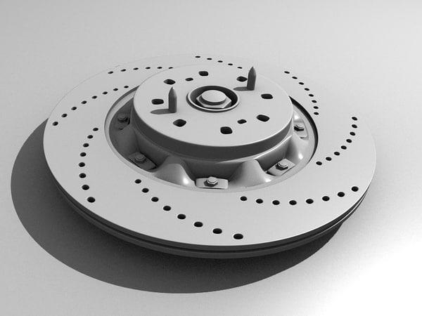 brake disk 3d 3ds