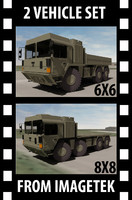 MAN HX 6X6 & 8X8 Military Extreme Mobility Truck System 2 Vehicle Set