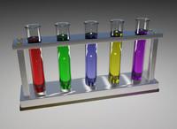 test tubes 3d model