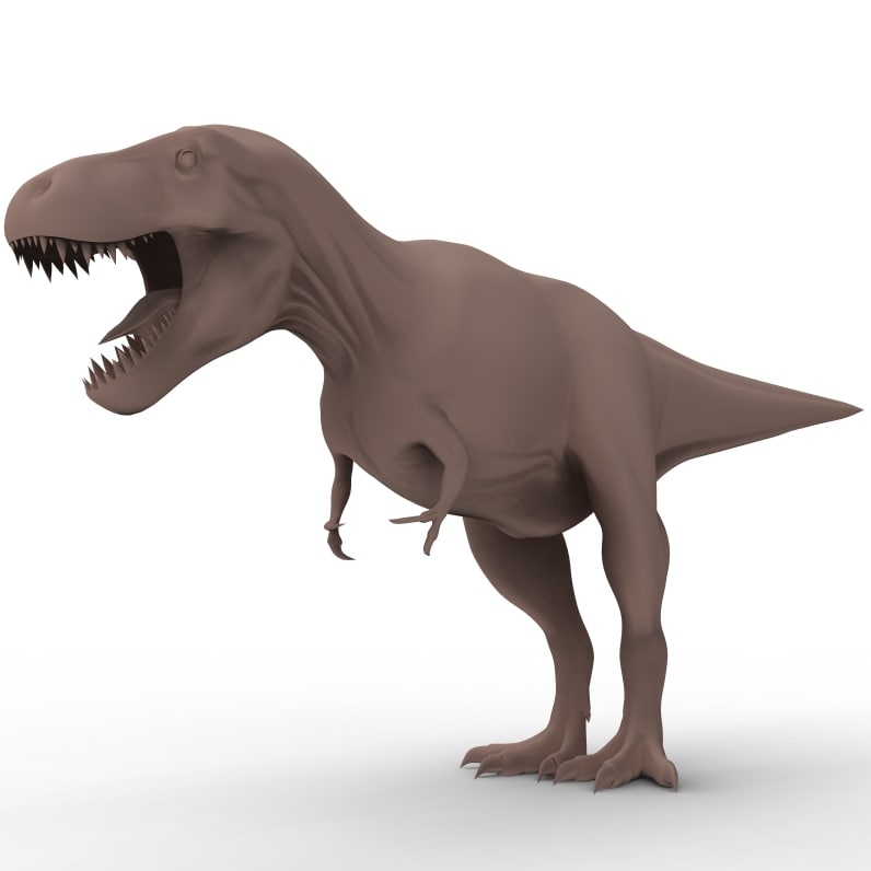 t-rex skeleton dinosaur rex 3d model