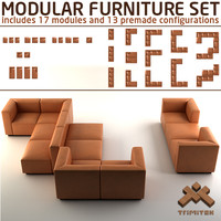 3ds modular furniture set sofas