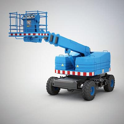 wheeled aerial work 3d model