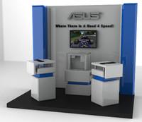 3d model gaming station