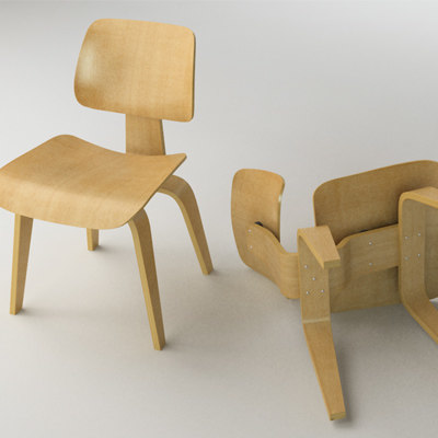 Eames Dining Chair Wood Legs