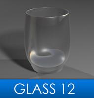 3d stemless wine glass