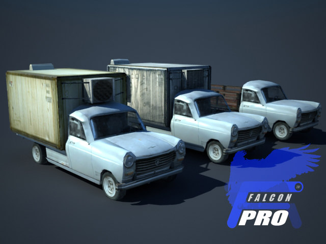 3d model old french pickup