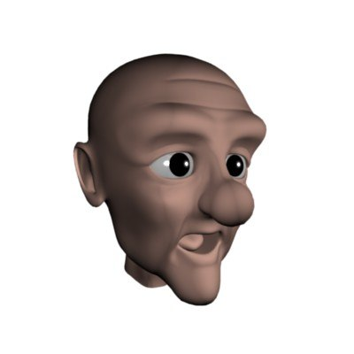 funny old man head 3d max