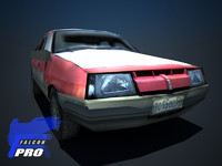 3d model lada 9 - devastated
