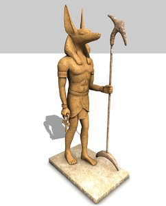 3d model of anubis