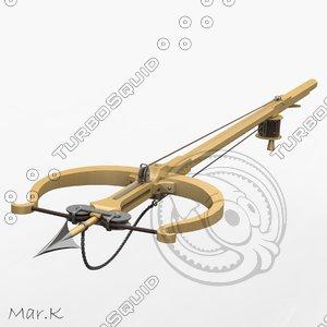 3d model harpoon leonardo da