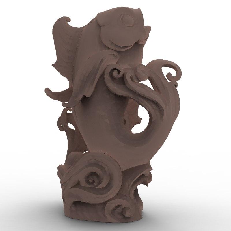 3d balinesian fish sculpture