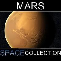 3d mars planet model