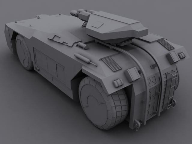 armoured personnel carrier v1 3d model