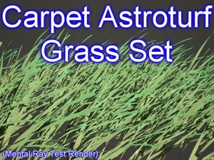 3ds max set astroturf grasses