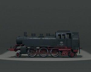 3d steam engine br64 model
