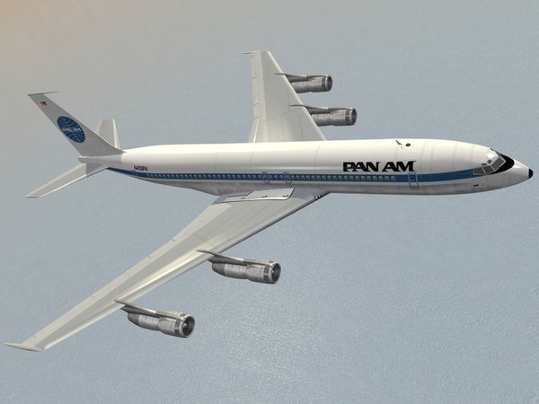 3d model b 707-300 pan 707