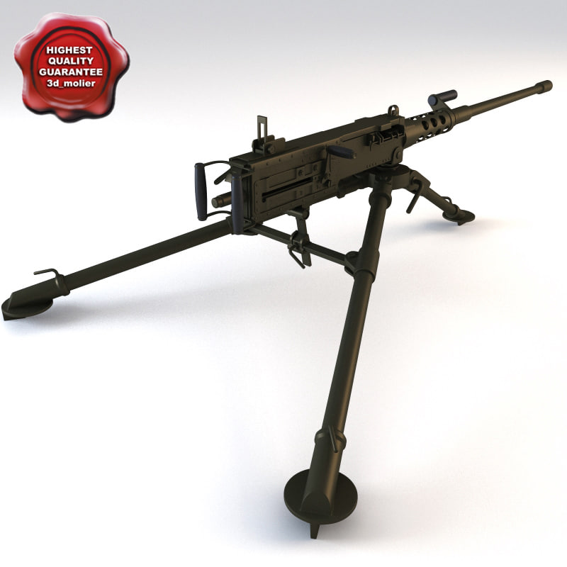 browning m2hb 3d model