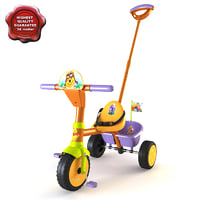 3d model of children tricycle