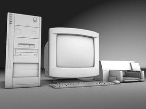 3d obj desktop computer printer