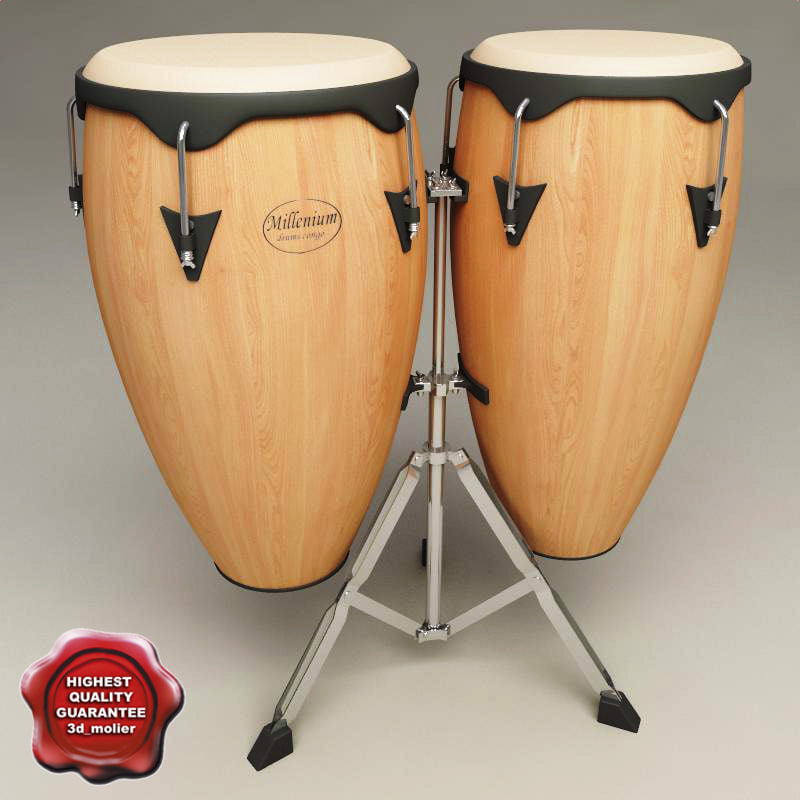 3d model conga drums