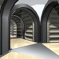 max3 hallway corridor 3d model
