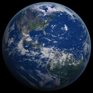 3d semi-realistic earth realistically