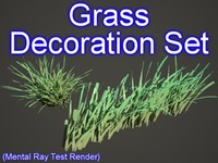 Grass Decor Set 001