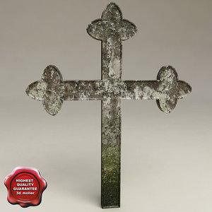 3d grave cross v2