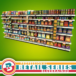 3ds max grocery shelves -