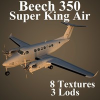 3d beechcraft b-350