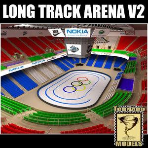 3d long track arena v2 model