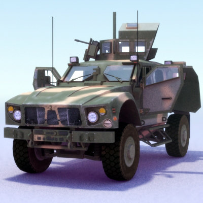 3ds 4x4 mrap jeep m-atv