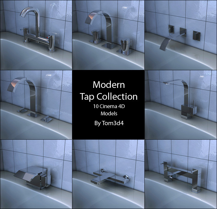 3d model tap chrome bathroom