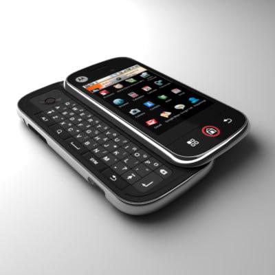 motorola cliq communicator android 3d obj