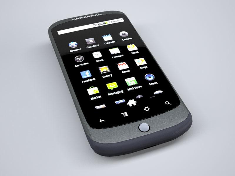 google nexus phone 3d model