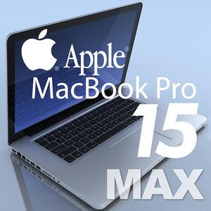 notebook apple macbookpro 15 3d c4d