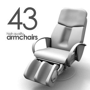 3d 43 armchairs