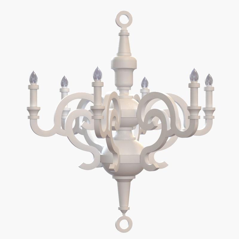 moooi - paper chandelier 3d model