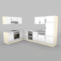 kitchen textur 3d model
