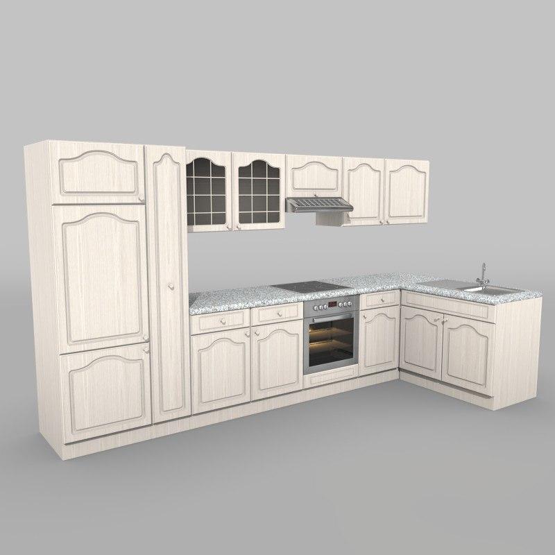 3d kitchen textur
